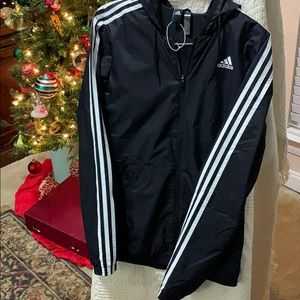 Adidas jogging top with hood. Athletic